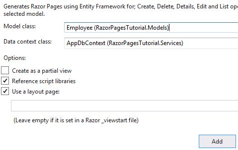 asp.net core scaffold crud