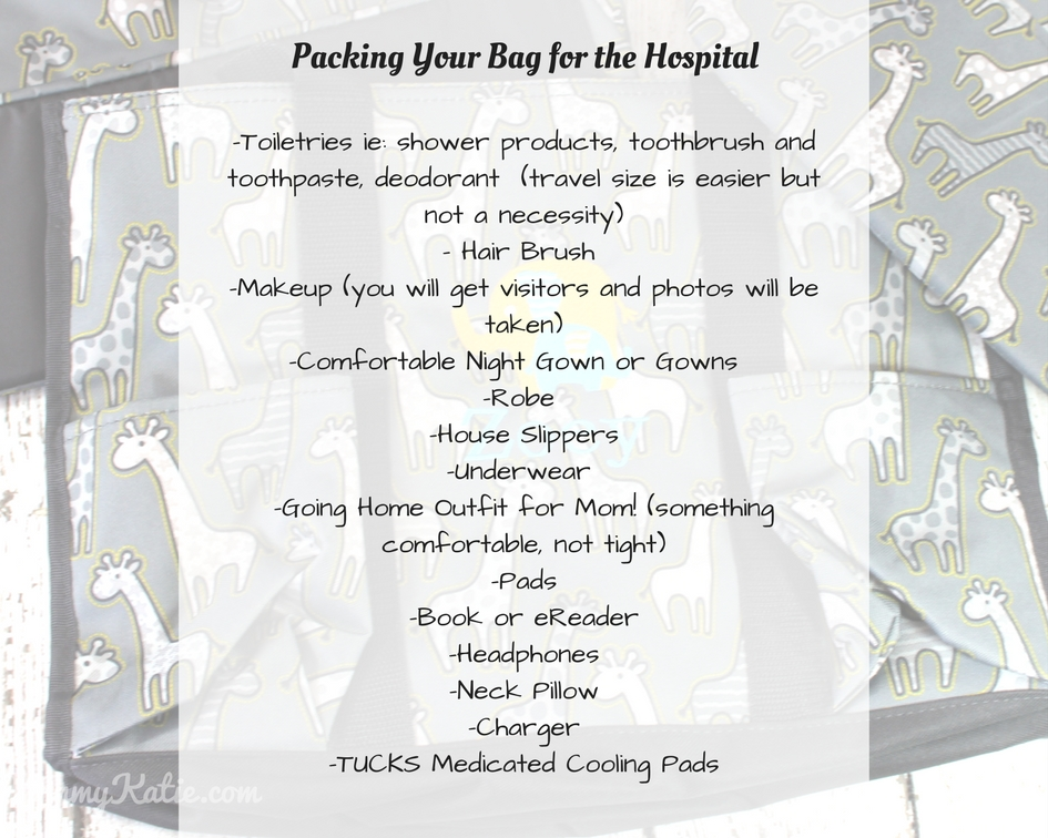Packing the Hospital Bag a must have list by Mommy Katie