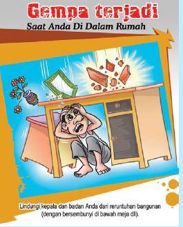 Langkah-langkah untuk menyelamatkan diri bila terjadi gempa secara tiba-tiba