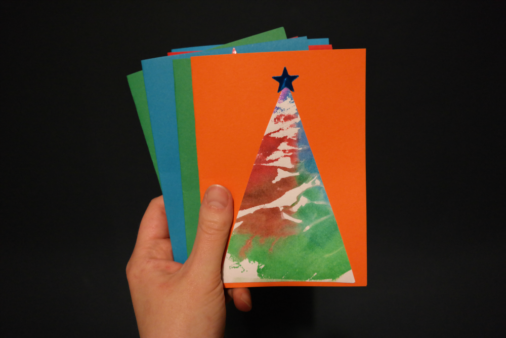Easy Christmas Prep With Your Toddler - Tissue Paper Christmas Cards