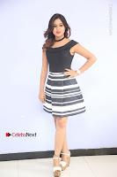 Actress Mi Rathod Pos Black Short Dress at Howrah Bridge Movie Press Meet  0037.JPG