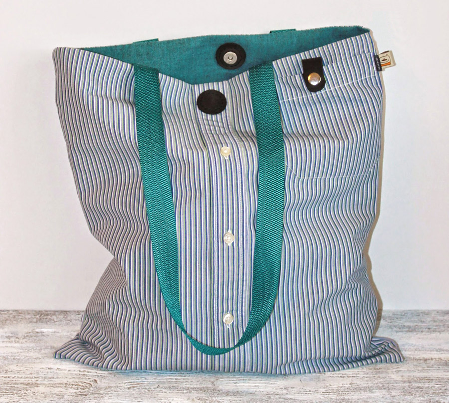Bag from a Man's Shirt Tutorial
