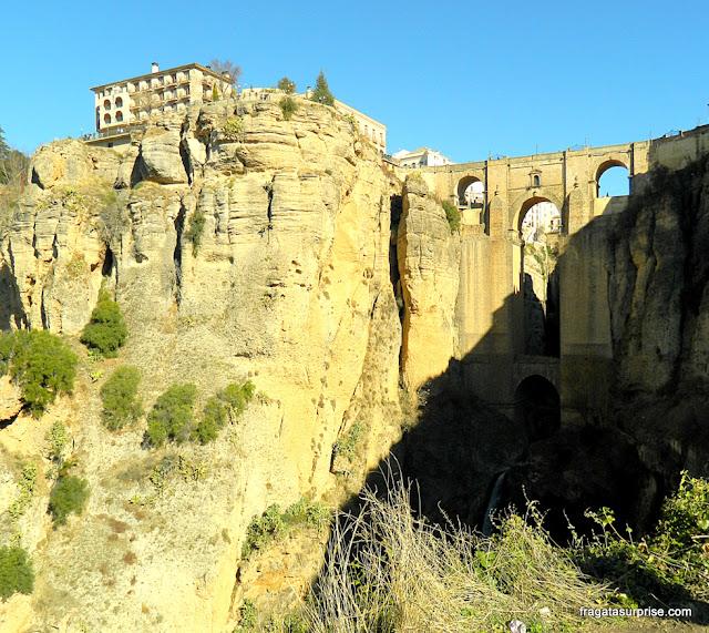 Vista do Desfiladeiro do Tajo, Ronda, Andaluzia