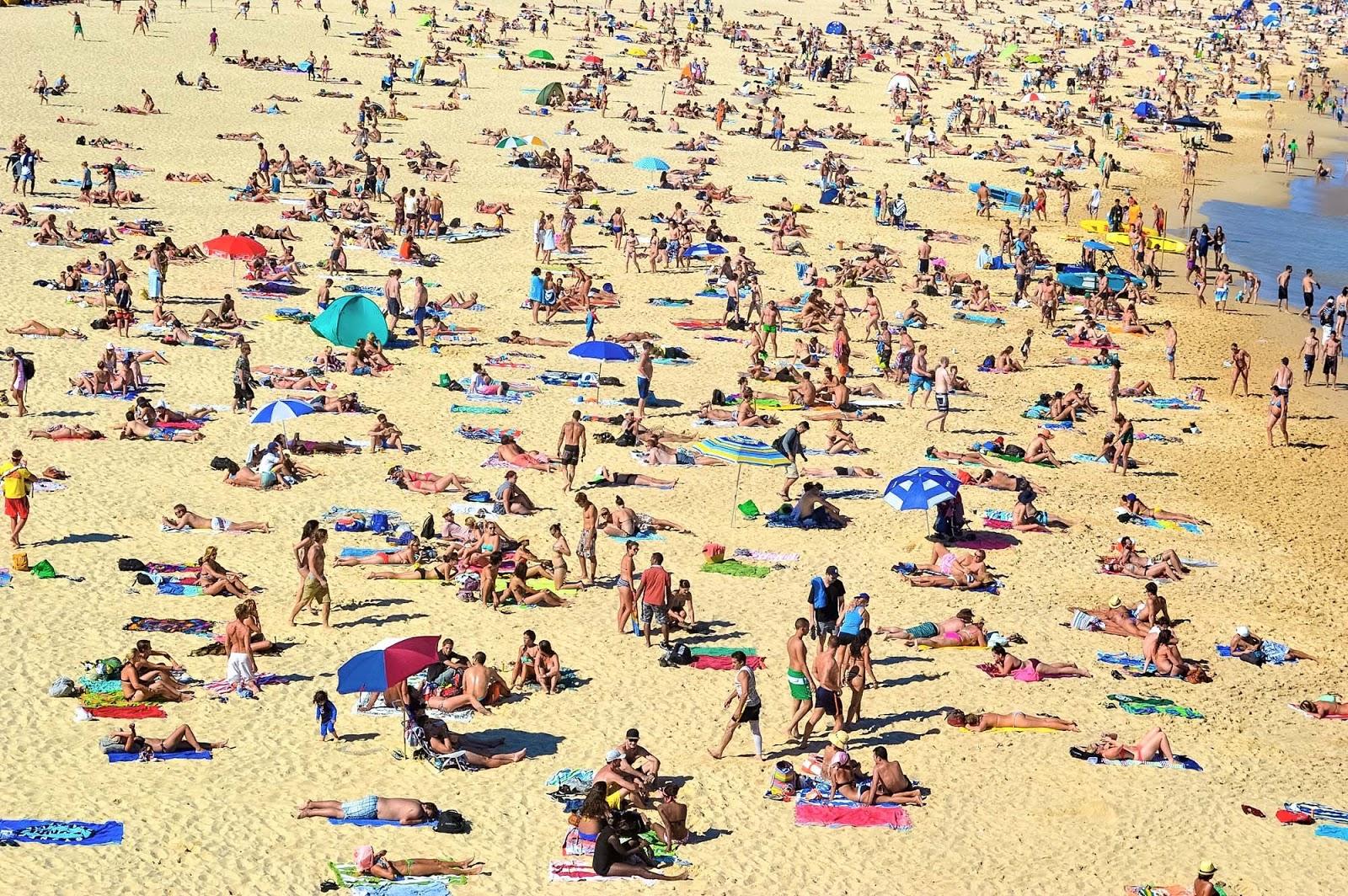 bondi beach at summer time