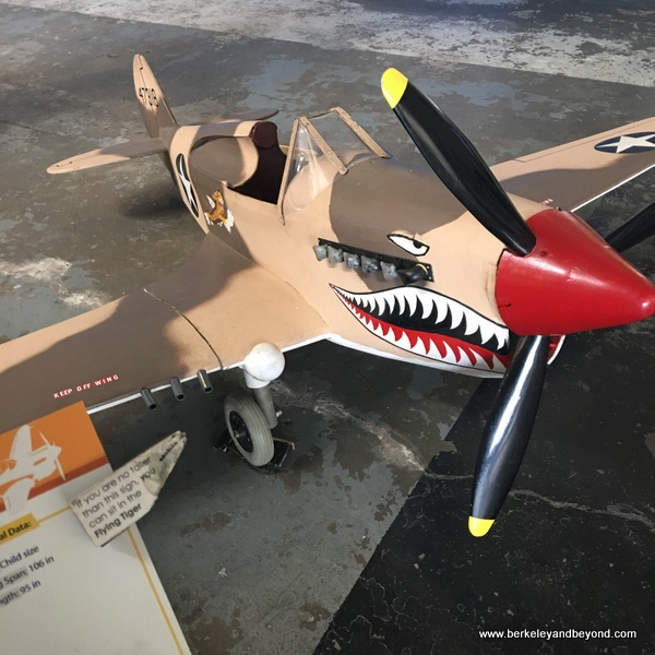 toy Flying Tiger plane for kids at Oakland Aviation Museum in Oakland, California