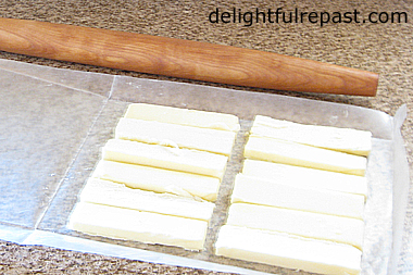 How to Make Croissants - A Tutorial (this photo - making the butter sheet) / www.delightfulrepast.com