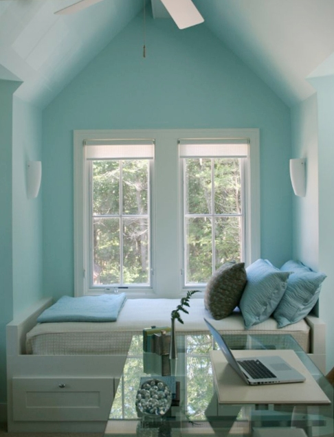 Habitacion en azul for Habitacion azul turquesa