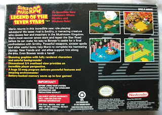 Super Mario RPG - Legend Of The Seven Stars - Caja detrás