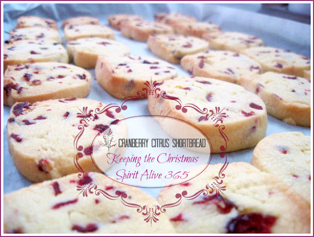 Caramel and Cashew Shortbread Cookie Recipe, Cranberry Citrus Shortbread