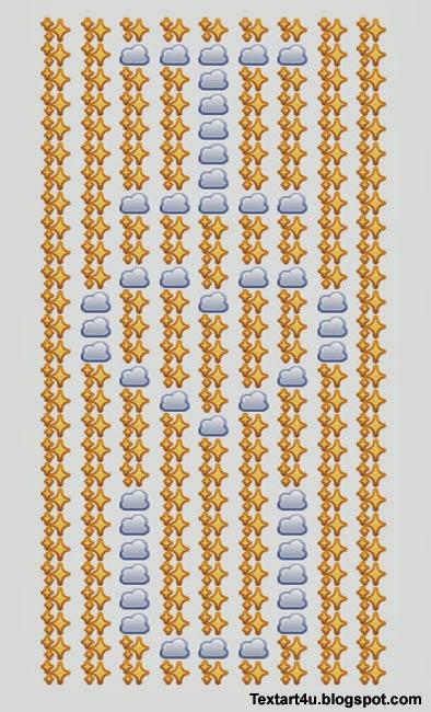 I Love You Emoji Art For Facebook Comments Cool ASCII Text Art 4 U - cool text message art