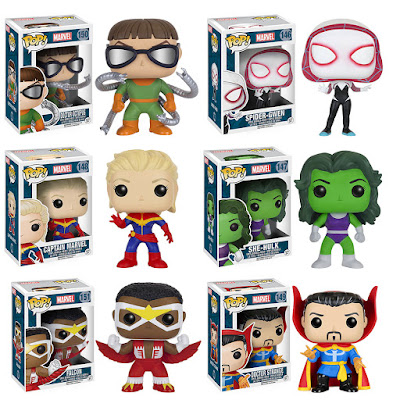 Marvel Pop! Series 4 Vinyl Figures by Funko - Spider-Gwen, Captain Marvel, She-Hulk, The Falcon, Doctor Strange & Doctor Octopus