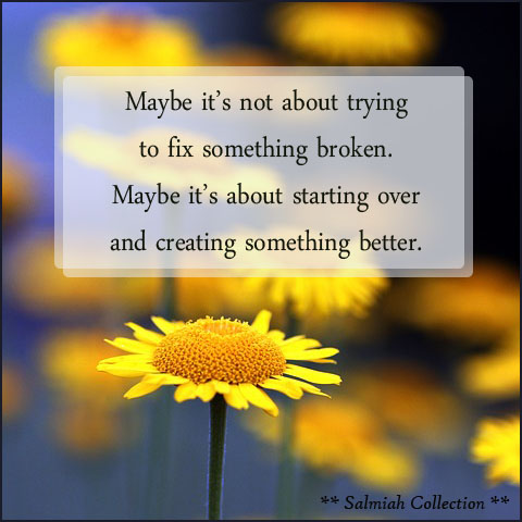 It's about creating something better