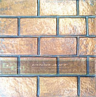 panel dinding tembaga