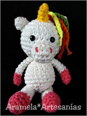 patron unicornio amigurumi mini 2