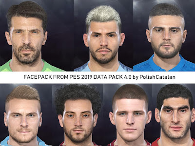 PES 2018 Faces Converted v1 From PES 2019 DP4 by PolishCatalan