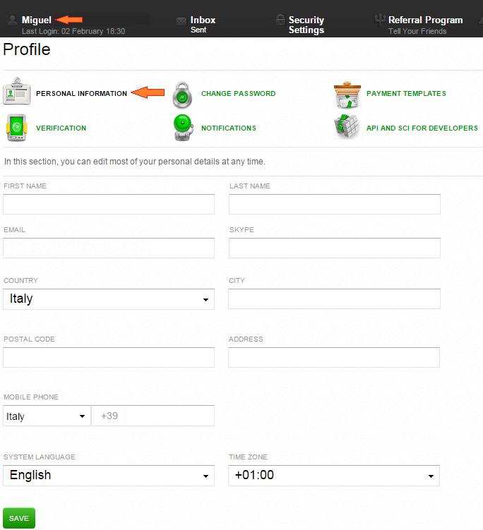 Cómo crear una cuenta en Advcash