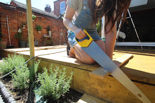 Garden DIY projects blogger