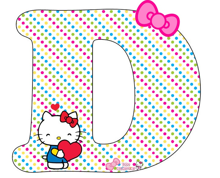 Alfabeto De Hello Kitty Con Corazones Oh My Alfabetos