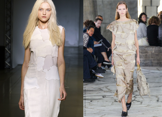 Fashion copycatsJil Sander Spring/Summer 2010 VS Loewe Spring/Summer 2015 via www.fashionedbylove.co.uk