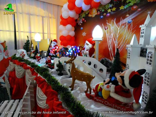 Decoração de mesa temática de Natal - Aniversário