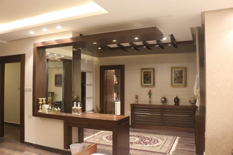 ديكورات جبس غرف الجلوس ديكورات خشب مع الجبسوم بورد | شركة ارابيسك