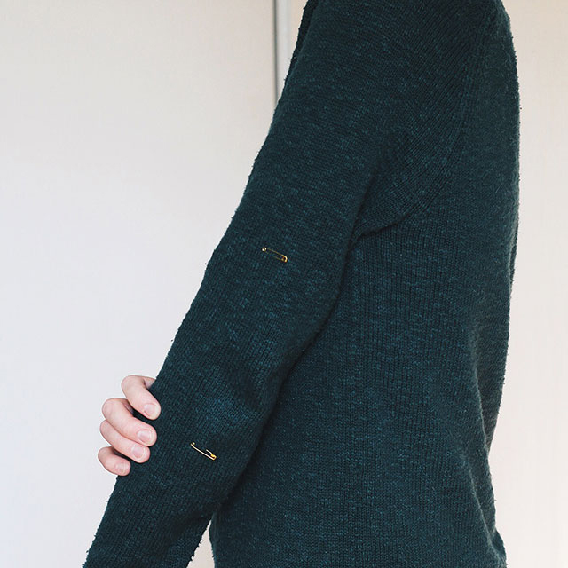 How to: Add elbow patches to a sweater