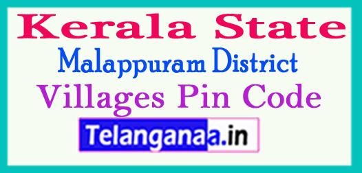 Malappuram District Pin Codes in Kerala State