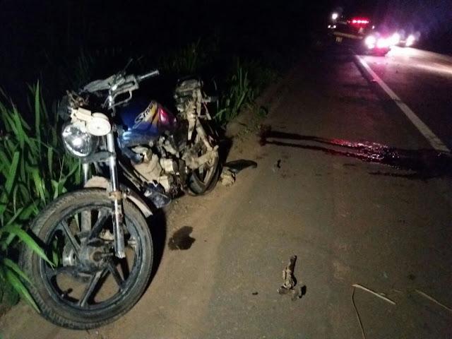 Bandeira Branca: Motociclista sofre acidente e não resiste e morre no local