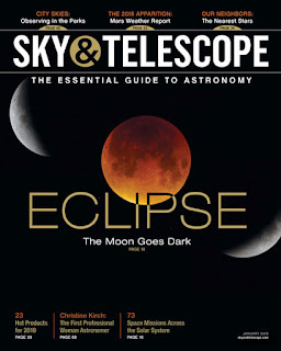 January Sky and Telescope magazine cover
