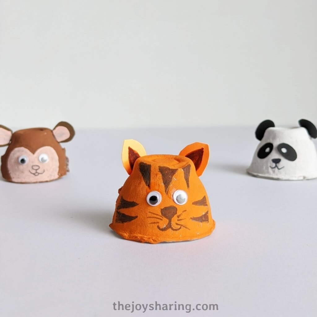 How to make tiger craft using egg carton?