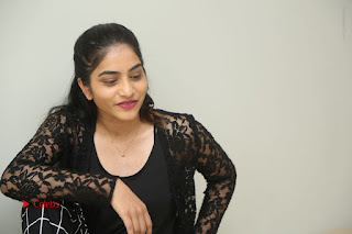 Actress Punarnavi Bhupalam Stills in Black Dress at Pittagoda Press Meet  0172.JPG