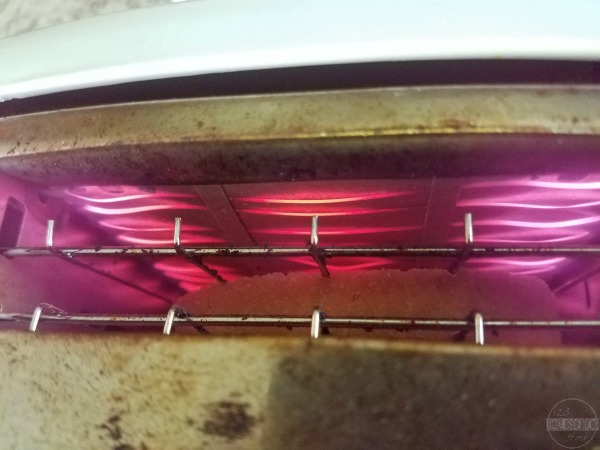 toaster wires are read because electricity is flowing through them and heating them up
