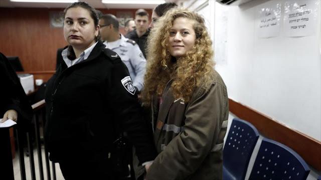 ONU crítica a Israel por detención de adolescente palestina Tamimi