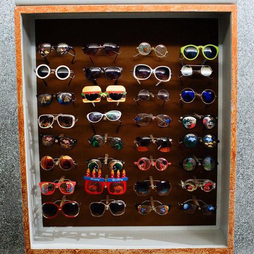 Tinuku Nasirun presents display box glasses PRADA and Elton John in solo exhibition titled Carangan in NuArt Sculpture Park
