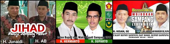 Tiga pasang calon Bupati dan wakil Bupati Kabupaten Sampang 2018