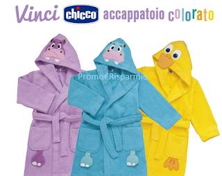 Logo Vinci gratis 30 accappatoi colorati Chicco