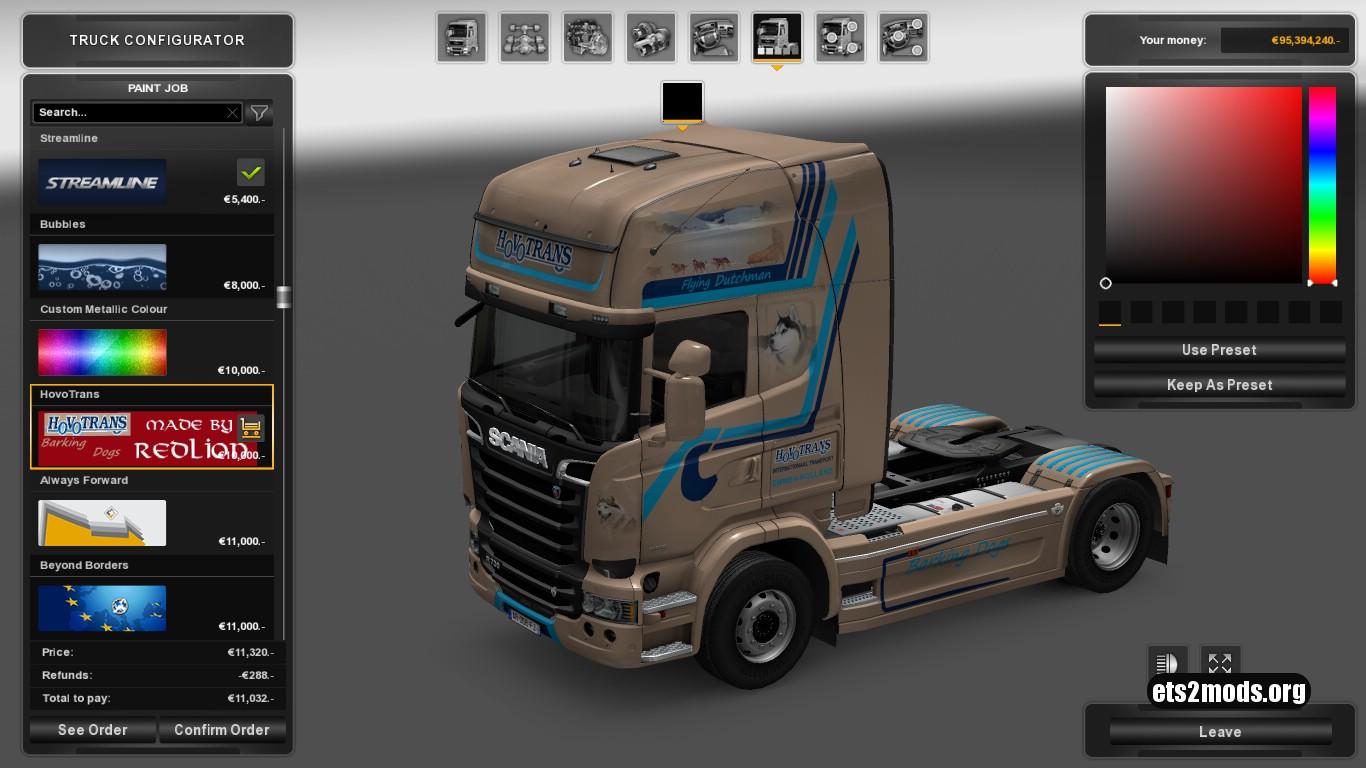 Scania Streamline Hovotrans Skin