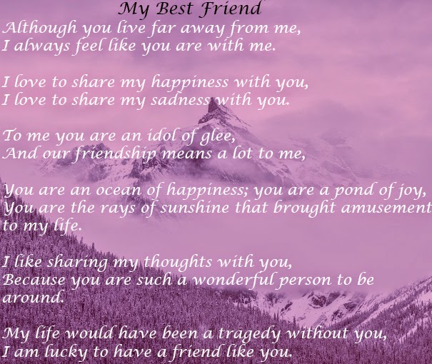 "English Poem ""my Best Friend"""