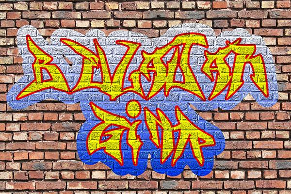 Cara Membuat Graffiti Tulisan Dengan GIMP