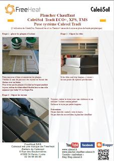 Plancher Chauffant Caleosol Tradi - Pose système