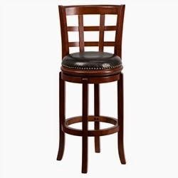 Cherry Finished Wood Bar Stool