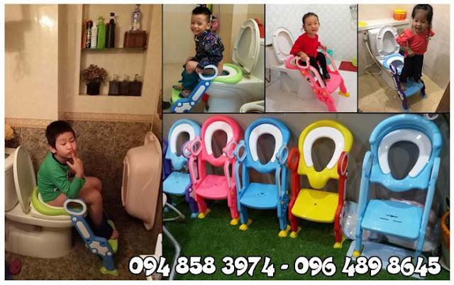 Mua nắp bồn cầu có thang cho bé tại Hà Nội