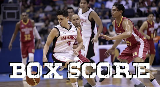 Box Score List: Alaska Aces vs Brgy. Ginebra 2018 PBA Governors' Cup