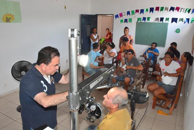 Alunos do Programa 'Sim, Eu Posso' realizaram consultas oftalmológicas, facilitando o aprendizado .