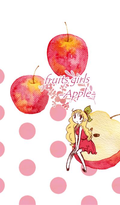 fruits girls-Apple-