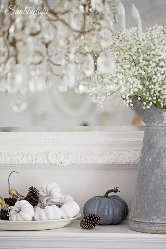 french country mantel for fall
