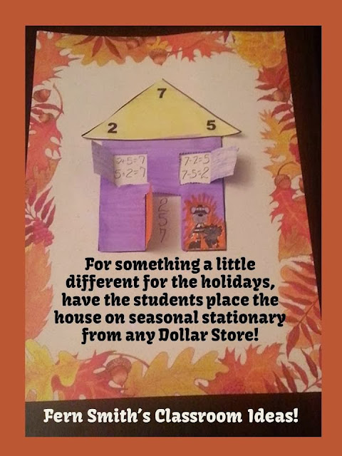 http://www.teacherspayteachers.com/Product/Thanksgiving-Addition-and-Subtraction-Fact-Families-Center-Notebook-Activities-985228