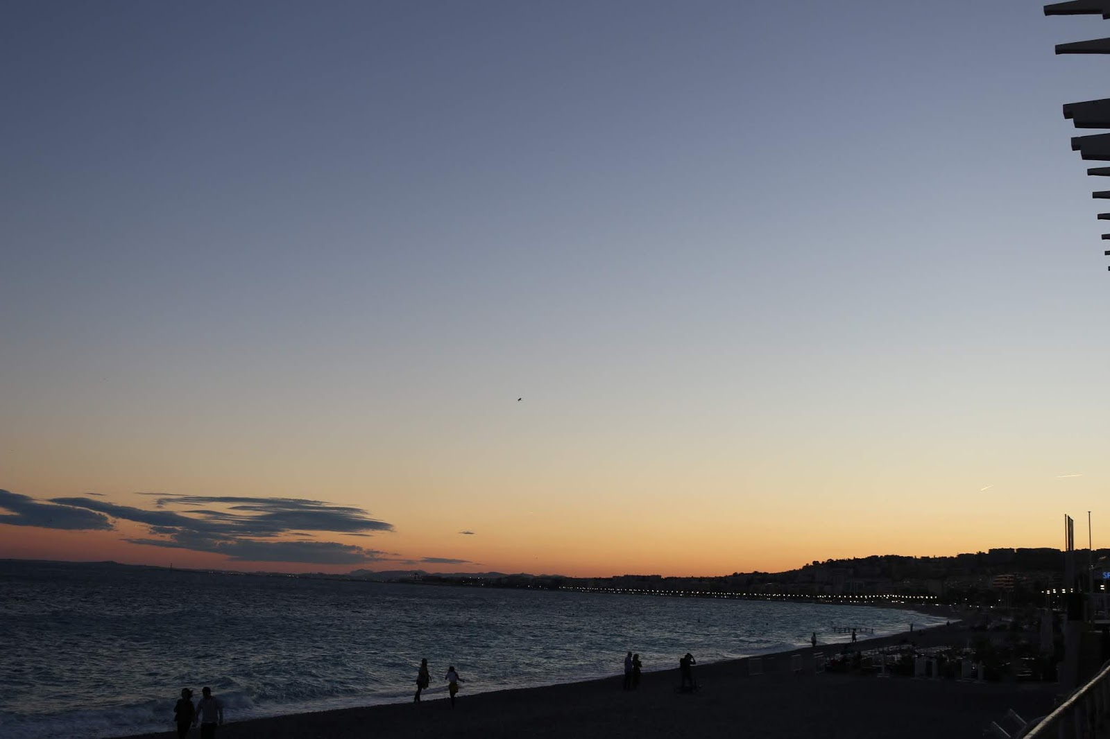 Nice Promenade des Anglais Sunset