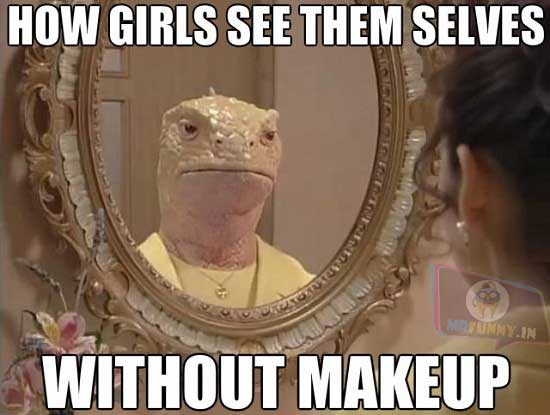 Once you go makeup, this is the result.