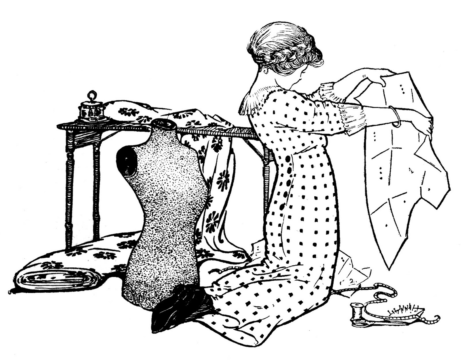 vintage sewing image